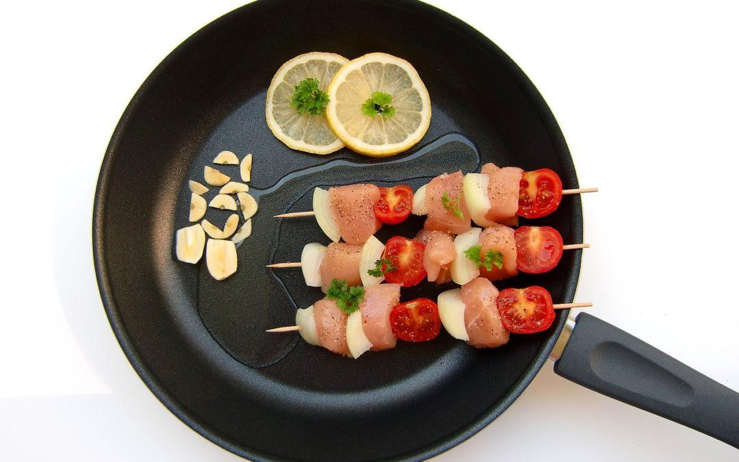 Kebabs in a Skillet