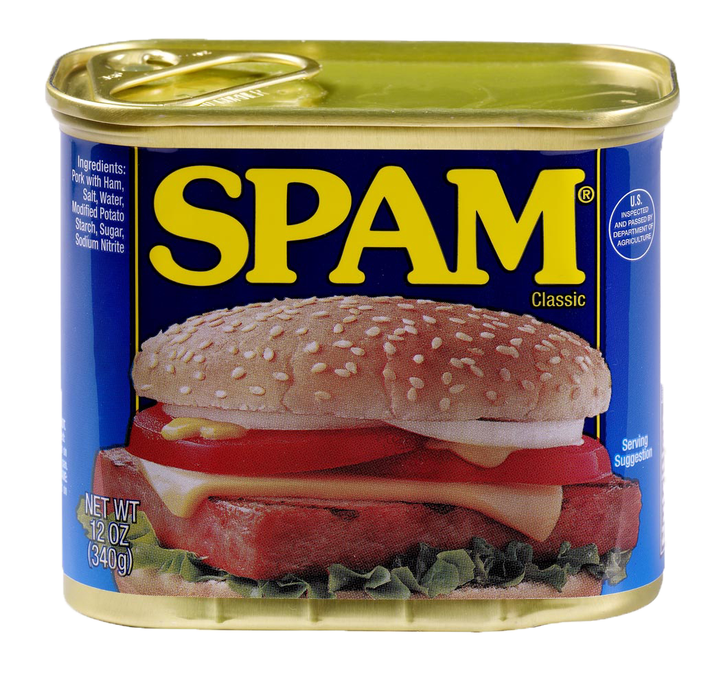 Can of SPAM Processed Meat Food