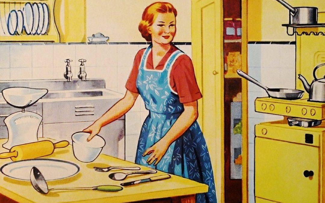 Women In The Kitchen Retro